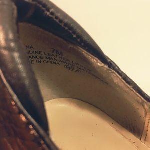 Oh Deer! Shoes - Oh Deer! Rinna Bronze Red Bottom Pumps Size 7M